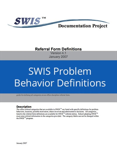 SWIS Problem Behaviors Definitions