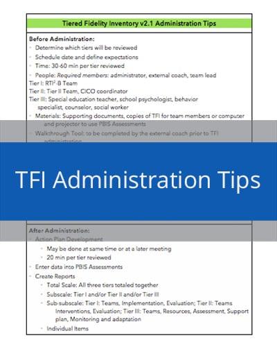 TFI Administration Tips