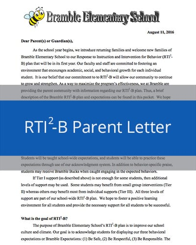 RTI2-B Parent Letter