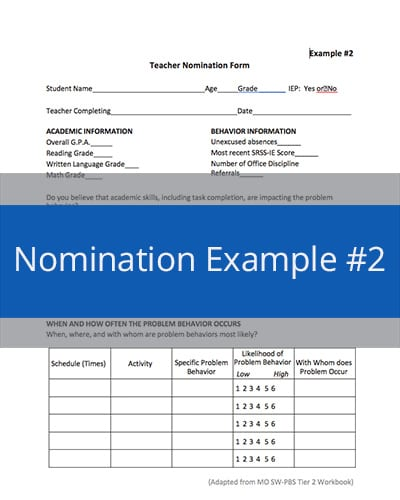 Nomination Example #2