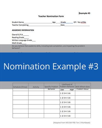 Nomination Example #3