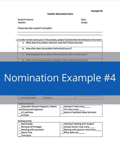 Nomination Example #4