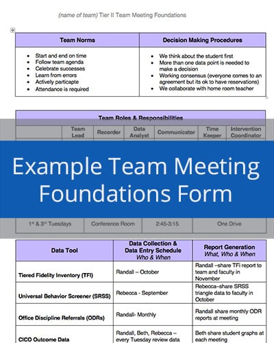 Example Team Meeting Foundations Form