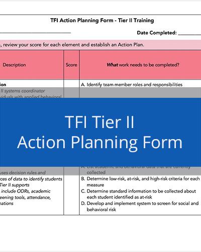 Tier II TFI Action Planning Tool